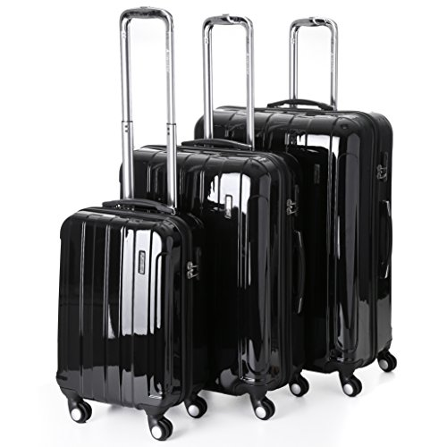 5 Cities Lightweight Hard shell Travel Luggage Suitcase- 4 Wheel ...