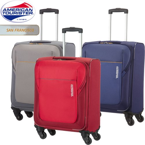 american tourister hand luggage san francisco spinner small 55 cm cabin size 37 5 liters. Black Bedroom Furniture Sets. Home Design Ideas