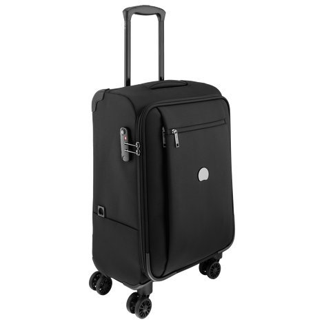 Delsey hand luggage black black 124480100 cabin hand for Best cabin luggage