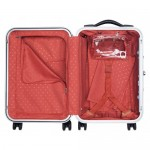 Delsey Honoré 4 Wheels Cabin Trolley open