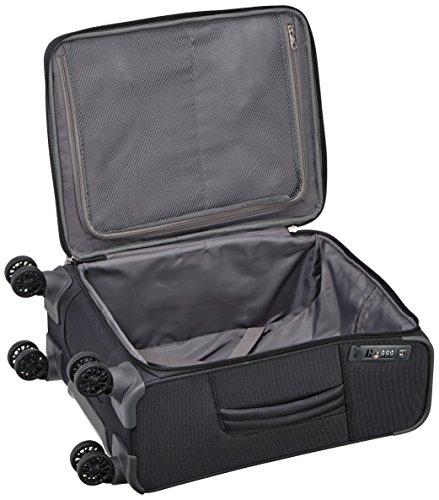 The Samsonite Spark 55 cabin luggage open