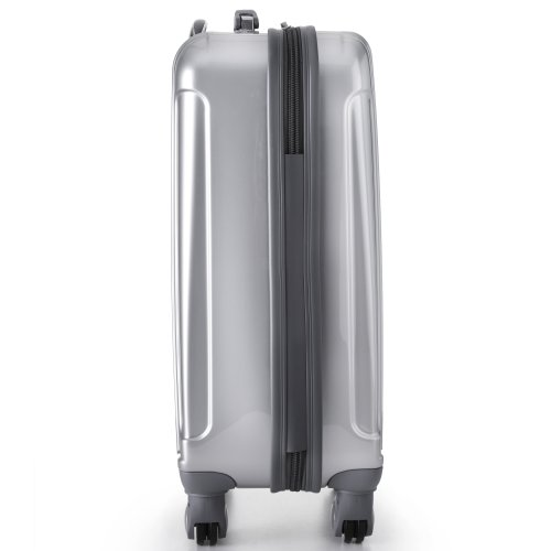Aerolite 21 hardshell suitcase silver - side view