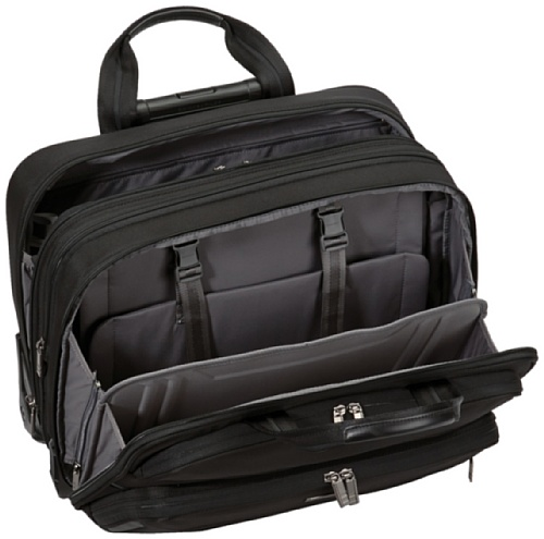 Briggs riley large expandable rolling brief laptop bag for Laptop cabin bag